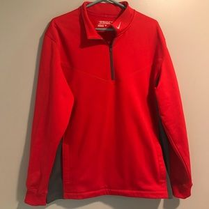 Nike Pro Golf Tournament Therma Fit Red Gray